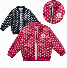 jackets for girls Cute dot casual jacket kids Jacket 2-6 age children outwear