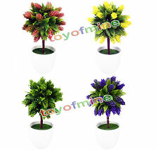 "Home Decor 10.5"" Artificial Pine cones Plants potted Bonsai plant flower Tree"