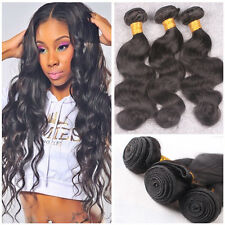 3 Bundles 300g Unprocessed 6A Brazilian Human Body Wave Hair Extensions Weave 7A