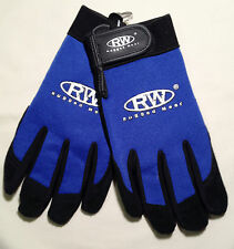 Rugged Wear Men Light Duty Work/Drive Wrist Glove Blk Pigskin-Spandex Unlined XL