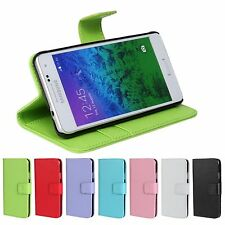 Leather Flip Wallet Case for Samsung Galaxy S2 S3 S4 S5 S6 i9100 i9300 i9500