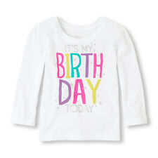 Children's Place Toddler GirlsT-Shirt Size 3T 4T NWT It's My Birthday Today