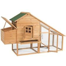 Wooden Chicken Coop House Hen Rabbit Poultry Cage Box Nesting Run wood Pet