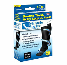 New Box Miracle Sock Casual Anti Fatigue Compression Socks As Seen TV 1 & 2 Pack