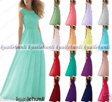 New Design Chiffon Formal Lace Evening BallGown Party Prom Bridesmaid Dress 6-18