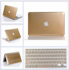 Champagne Gold Rubberized Hard Case+Keyboard Cover for MacBook Air/Pro11 13 15'