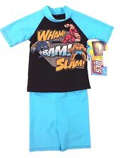 Marvel Heroes Kids Boys UPF 50 Blue 2 Piece Set Swimwear Sizes 3/4  9/10 NWT