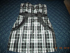 SWEET LOVE BLACK AND WHITE PLAID POCKET BOW DRESS FROM HOT TOPIC DIFFERENT SIZES