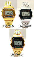Classic Retro Vintage Style Gold Silver Mens Ladies Digital Metal LCD Watch