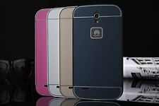 Luxury Slim Aluminum Metal Frame +PC Back Skin Case Cover For Huawei Ascend G610