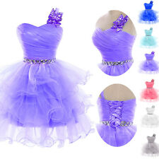 2015 New Stock Evening Formal Party Ball Gown Prom Bridesmaid Short Dress Attire