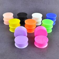 1 Pair Soft Silicone Flexible Ear Gauges Plugs Big Size