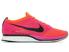 New Nike Flyknit Racer 526628 600 Pink Flash Hyper Crimson Men's & Women's Sizes