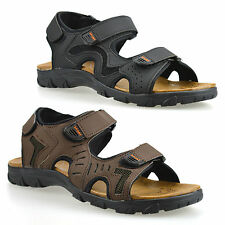 Mens Hiking Walking Summer Beach Mules Velcro Sports Trekking Sandals Shoes Size