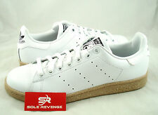 New adidas Originals STAN SMITH White Gum Cork Brown S85434 Rod Laver superstar