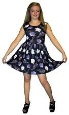 WOMEN'S CUTE MOUSE RATS PRINT ROCKABILLY SWING SLEEVELESS DRESS GOTH PUNK EMO