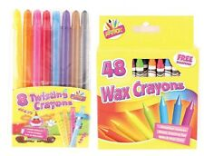 Crayons Bright Colours Twisting Retractable Art Crafts Drawing School Stationery