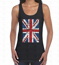 Union Jack Distressed WOMEN TANK TOP British Flag United Kingdom Ladies TankTOP