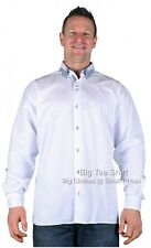 Big Mens White Louie James Babel Long Sleeve Shirt Size 2xl to 6xl