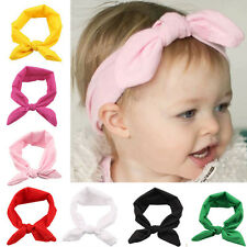 HOT Baby Toddler Cute Child Bow Hairband Turban Knot Rabbit Headband Headwear