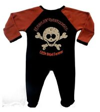 Harley Davidson Infant & Toddler  Boys Apparel  Footed Coverall  0-3  thru 24 Mo