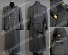 Torchwood Doctor Captain Jack Harkness Gray Wool Trench Coat Jacket Outfit Suit