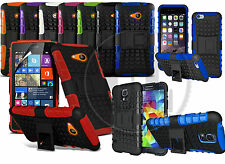 HEAVY DUTY RUGGED TOUGH SHOCKPROOF WITH STAND HARD CASE COVER FOR MOBILE PHONES