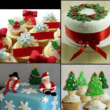 Christmas Fondant Cake Decorating Cutter Mold Cookie Mould Sugarcraft