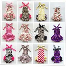 Baby Infant Girls Halloween Wedding Lace Ruffles Romper Jumpsuit Outfits 0-24M