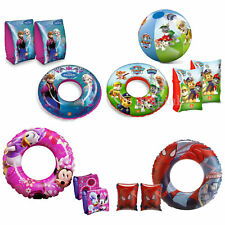 Swimming Armbands Swim Rings Disney Frozen Princess Minnie Mickey Mouse Minions
