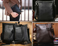 Real Leather Men's Sling Business Briefcase Shoulder Messenger Bag Satchel Bag