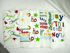 TOWELS KITCHEN/HAND TOWELS HOLIDAY PRETTIES 5 DIFFERENT DESIGNS