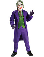 Child Deluxe The Joker Costume Batman Dark Knight Boys Fancy Dress Film Outfit