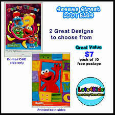 SESAME STREET ELMO LOOT/LOLLY BAGS PARTY SUPPLIES - PACK OF 10