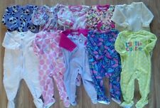 Lots of Girl's Size 18 M Months One Piece Footed Pajama Sleeper Outfits Carters+