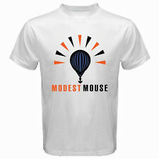 New MODEST MOUSE Logo Indie Rock Band Men's White T-Shirt Size S to 3XL