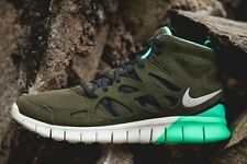 Nike Free Run 2 SneakerBoot Olive-Mint-white Running Shoes 616744-200 Sz 8.5-11