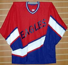 Eagles Minor League CCM Authentic Red White Blue Hockey Jersey