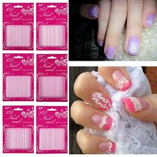 White 3D Lace Flower Design Nail Art Manicure Tips Sticker Decal DIY Decoration
