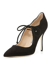 New Manolo Blahnik BB REFOLADA 115 Black Suede Pumps Heels Shoes 37 37.5 40
