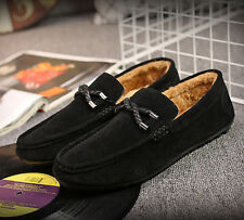 Black Suede Slip On Mens Driving Moccasin Loafer Casual Shoes US Size 6.5-10