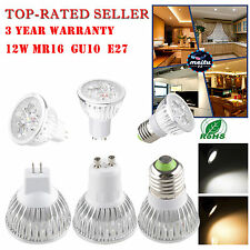 4x3W LED Lamp Spot light Warm Cool White Bulb Downlight 12W MR16/E27/GU10
