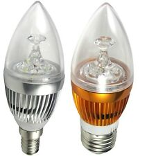 Led E14 E27 E26 3*3W Chandelier Candle Light Bulb Lamp 9W 110V-240V LM