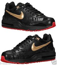 NIKE AIR MAX WRIGHT MEN's LEATHER M RUNNING BLACK - RED - METALLIC GOLD NEW SIZE