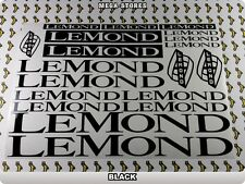 LEMOND Stickers Decals Bicycles Bikes Cycles Frames Forks Mountain MTB BMX 55Q