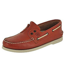 Sperry Top-Sider Men STS10046 A/O Leather Slip-On 2-Eye Boat Shoes Dark Tan 7.5