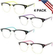 4 PACK CLUBMASTER READING GLASSES NEON TWO TONE HIGH QUALITY 44
