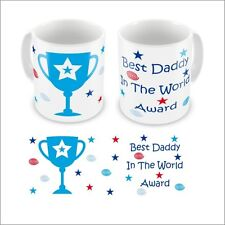 Personalised Father's Day Best Dad Daddy Grandad In The World Award Mug Gift Box