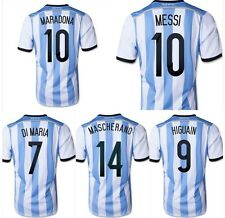WORLD CUP 2014 ORIGINAL ARGENTINA HOME SOCCER JERSEY ALL PLAYERS AND SIZES
