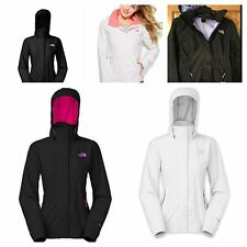 The North Face Jacket Resolve Zip-Up Waterproof Womens Black Pink Purple White